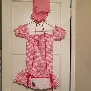 Medium Strawberry Girl/Shortcake Costume
